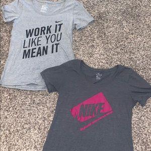 Set of Nike workout T-shirts